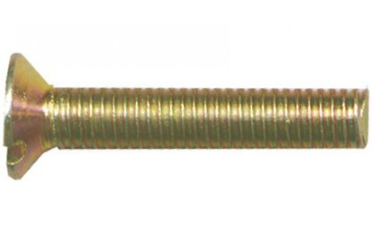 DIN 963, oceľ, pevn.tr. 4.8, žltý zinok