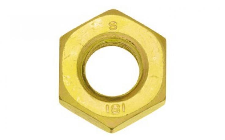 Oceľ, pevn.tr. 8, jemný závit, žltý zinok
