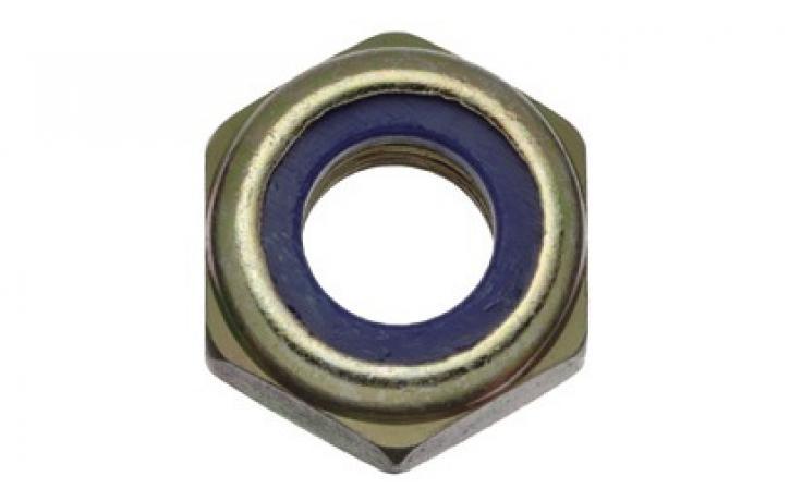 Oceľ, pevn.tr. 10, jemný závit, žltý zinok