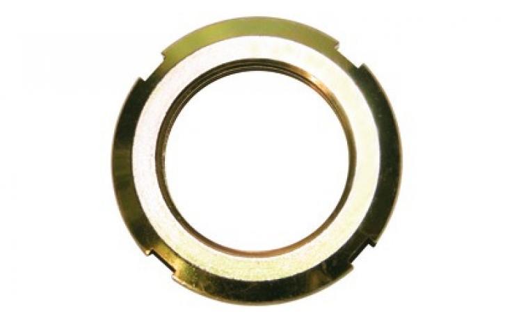 Kruhové matice, oceľ, žltý zinok