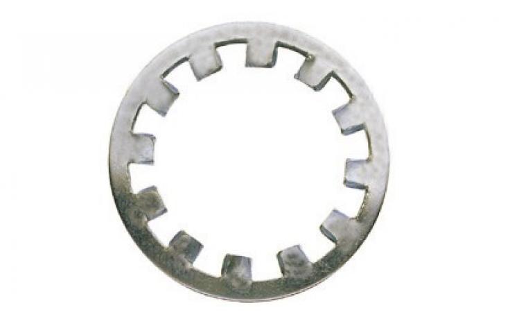 DIN 6797, vnútorné ozubenie, ušľachtilá oceľ INOX A2