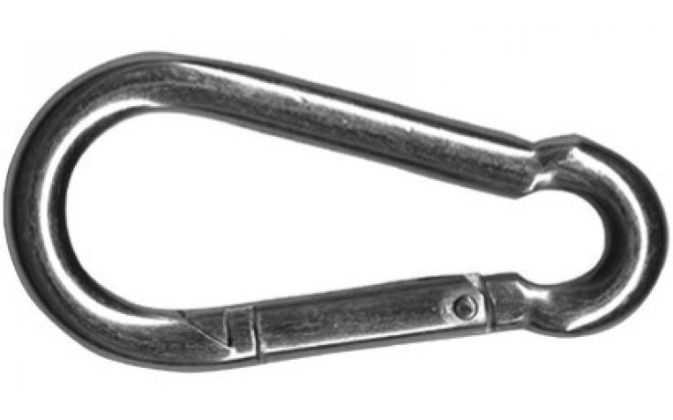 DIN 5299, karabíny, forma C, ušľachtilá oceľ INOX A2