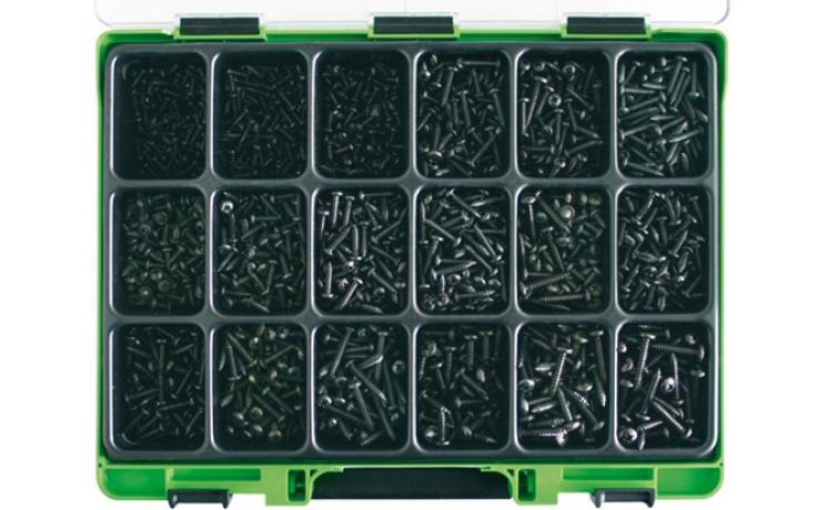 Sortimenty DIN 7981C čierny zinok