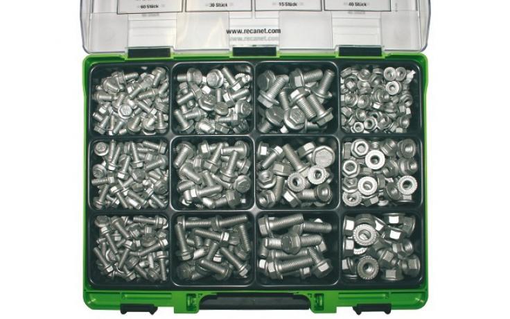 Sortiment • RECA-LOCK skrutky & matice • mikrolamelový zinkový povlak