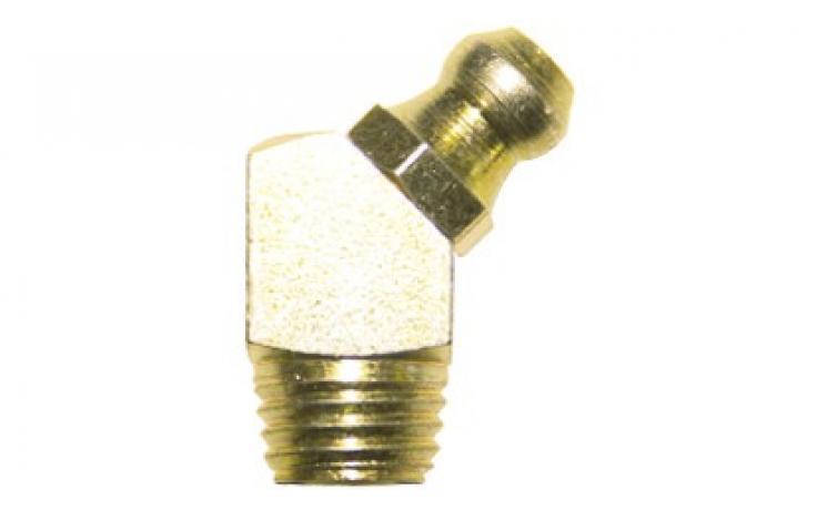 Forma B, 45 stupňov zahnuté, samozávrtné, oceľ, žltý zinok