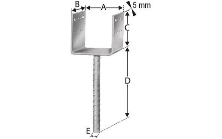 Stĺpikové pätky PPD