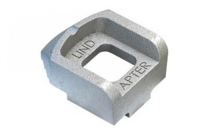 Štandardné svorky • typ A • temperovaná liatina • žiarový zinok