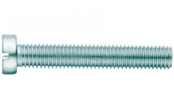 Gewindeschr. Zylinderkopf u. Schlitz M 2x10 DIN 84 FKL 4.8 Stahl vz (ISO 1207)