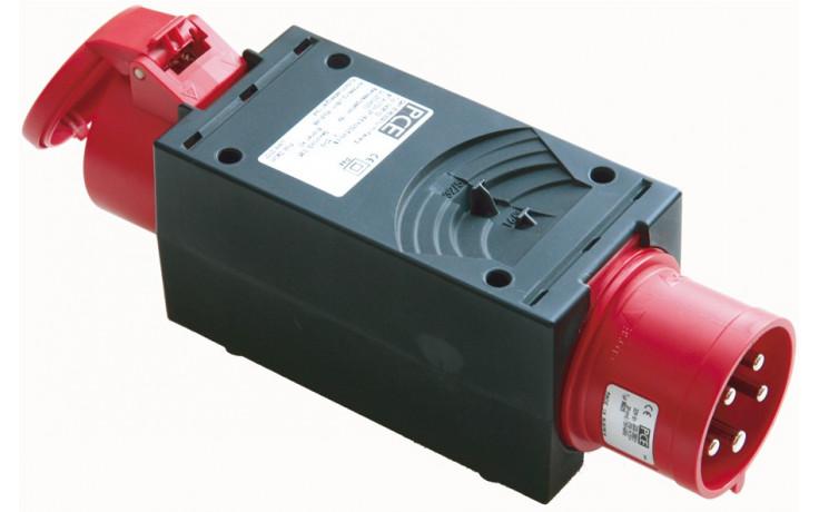 PCE CEE-Übergangsstecker Eingang CEE5/16Amp.Phasenwender,Ausgang CEE 5/32 Amp.
