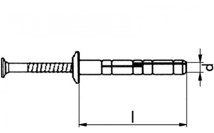 RECA evo Grip Nageldübel Pilzkopf Nylon Stahl verzinkt A2K 5 x 40 mm