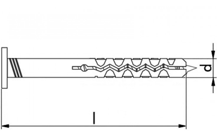 Nageldübel mit Schraubnagel 6 x 70 mm