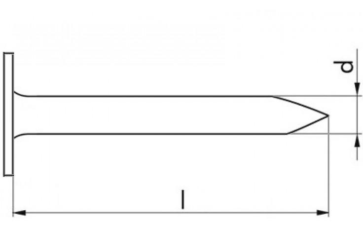 Dachpappstifte - verzinkt blau - 25 X 35 - Paket 2,5kg