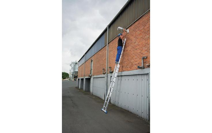Stabilo Alu-Schiebeleiter,2x9 Sprossen,Länge2,70/4,35m,Arbeitshöhe 5,25m, 9,0kg
