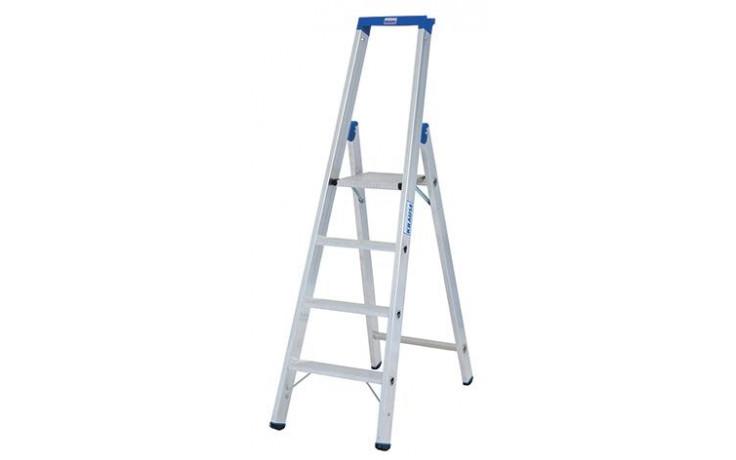 Stabilo Stufen-Stehleiter,Sprossen 4,Höhe 1,70m,Arbeitshöhe 2,95m,Gewicht 6,4kg