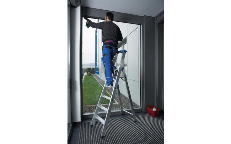 Stabilo Stufen-Stehleiter,Sprossen 5,Höhe 1,95m,Arbeitshöhe 3,20m,Gewicht 7,3kg