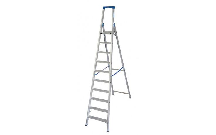 Stabilo Stufen-Stehleiter,Sprossen10,Höhe 3,20m,Arbeitshöhe 4,35m,Gewicht13,0kg