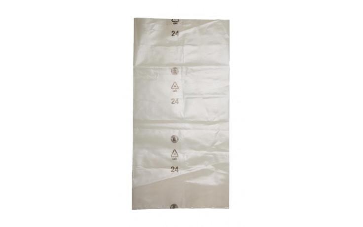Schwergutsack transparent trüb Inhalt ca. 50 Liter, 450x900 mm Materialstärke 160 my