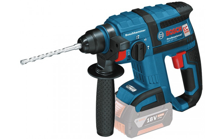 Bosch Akku-Bohrhammer GBH 18 V-EC, mit L-BOXX