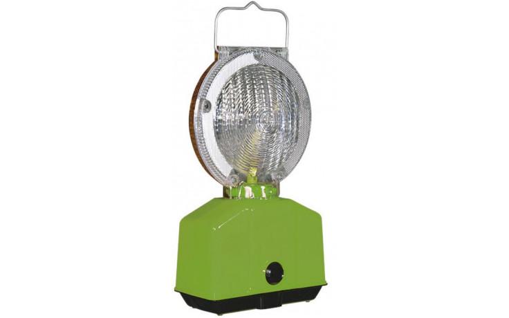 Baustellen-Blinklampe, Farbe der Linse rot/weiss, Blink/ Dauerlicht,BASt-geprüft