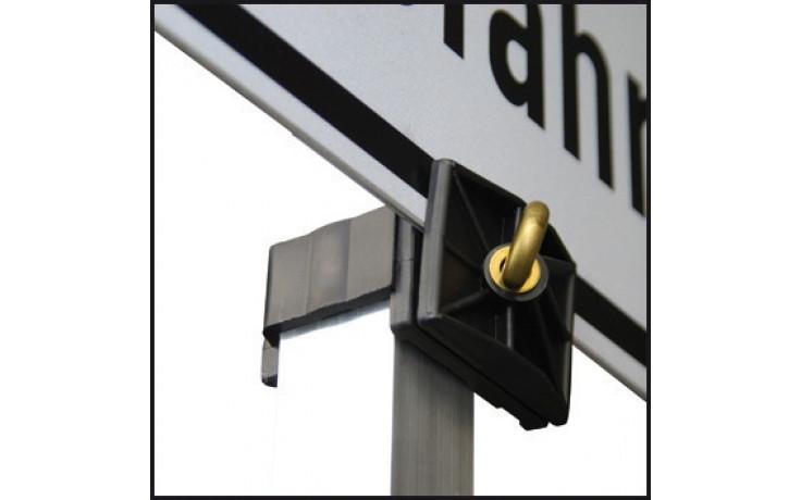 Schilderhalter für Rohrsteher Aluminium/Kunststoff in Verbindung/Schilder