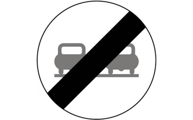 Baustellenverkehrszeichen § 52/4b Ende des Überholverbotes für PKW 670 x 1,5 mm