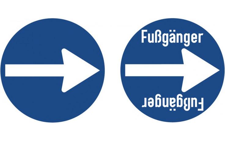 Baustellenverkehrszeichen § 52/15d Fussgänger 480 x 1,5 mm