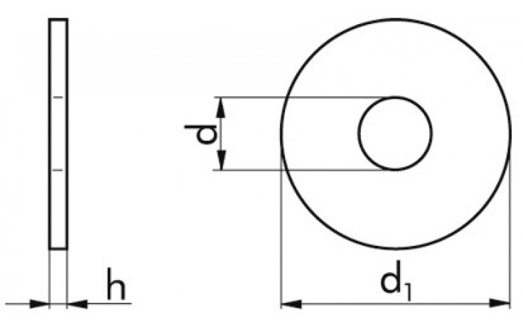 Scheibe ISO 7094 - A2 - M44 X 13,5 X 4