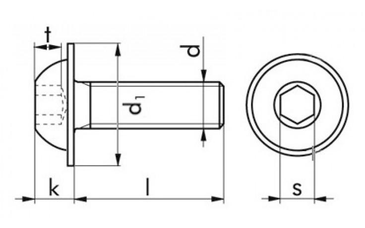 Halbrundkopfschraube ISO 7380-2 - A2-070 - M3 X 6