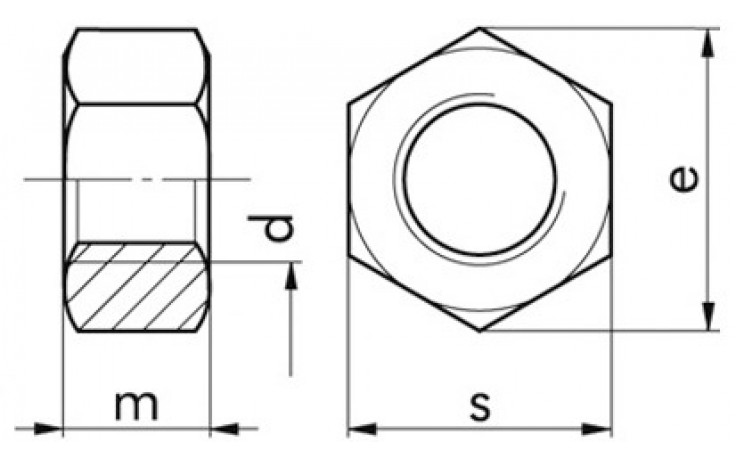 Sechskantmuttern M8 DIN 934 FKL 8 Stahl blank