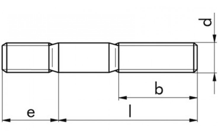 Stiftschraube DIN 938 - A2-70 - M10 X 50