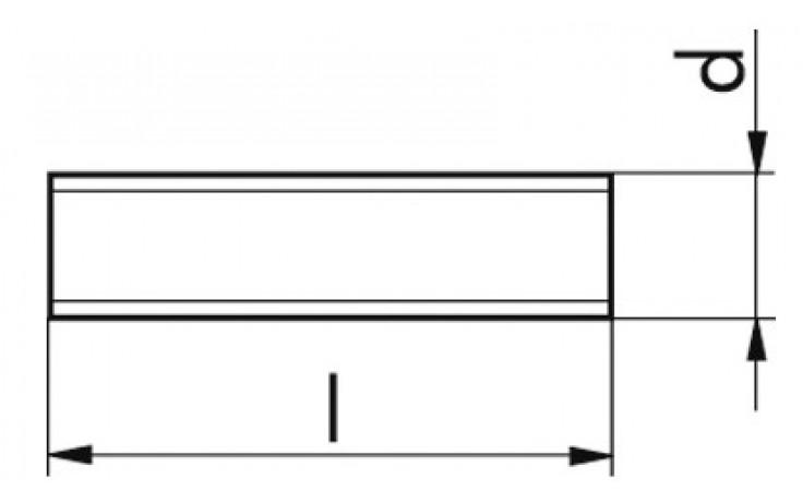 Gewindestücke M10 x 220 DIN 976 - 1 A FKL 8.8 Stahl verzinkt