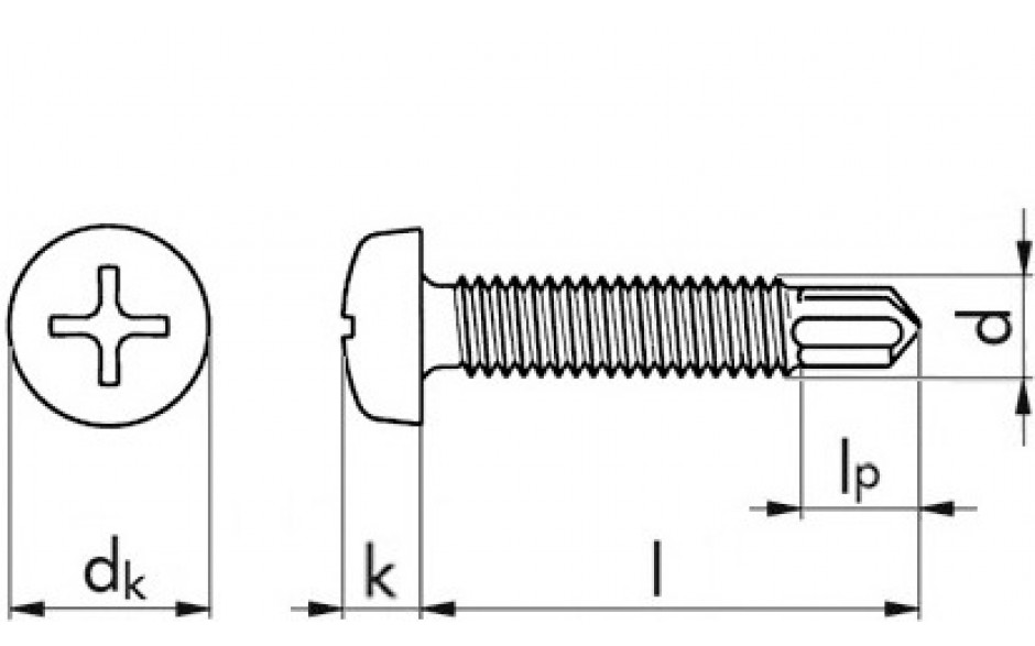 RECA selbstb. Gewindeschr.Linsenkopf+PH-Schl. M4x20 ähnl. DIN7985 FKL 4.8 verz.