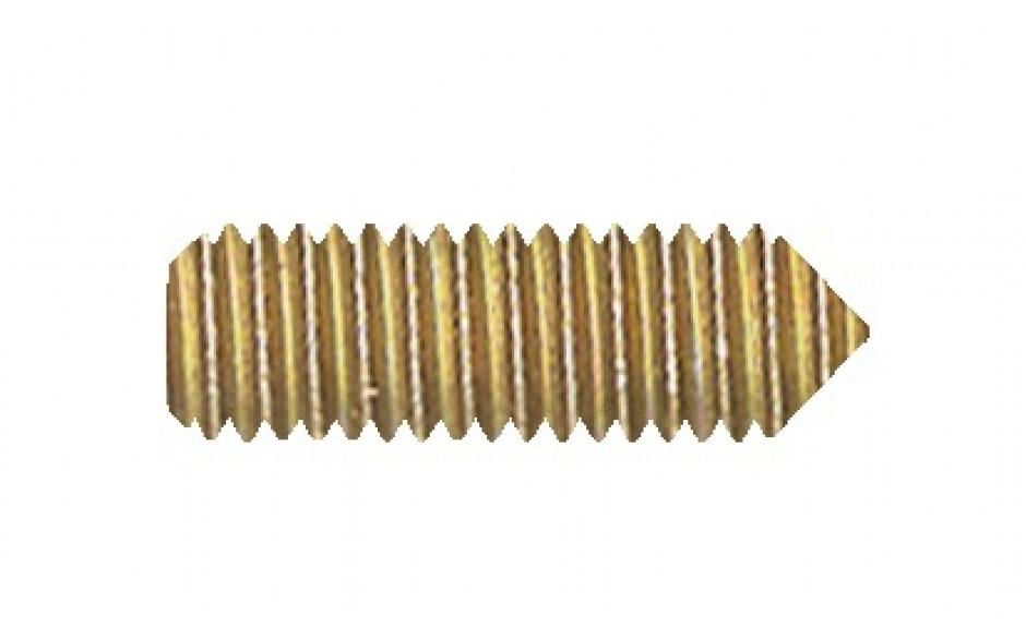 Gewindestift DIN 553 - 14H - verzinkt gelb - M5 X 16