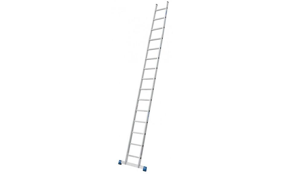 Stabilo Alu-Anlegeleiter, 15 Sprossen, Länge 4,35 m, Arbeitshöhe 5,25 m, 7,5 kg