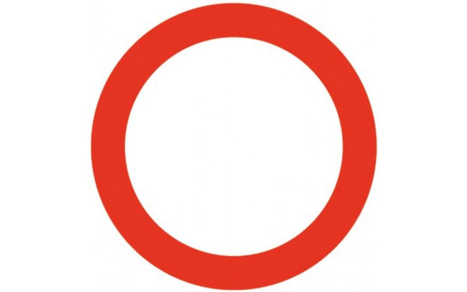 Baustellenverkehrszeichen § 52/1 Fahrverbot in beiden Richtungen 480 x 1,5 mm