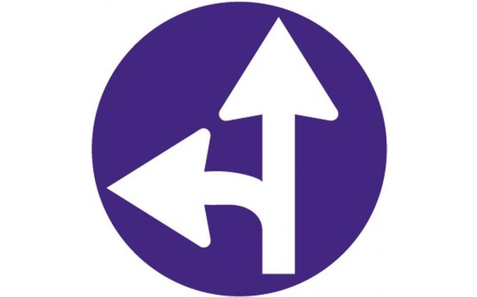 Baustellenverkehrszeichen § 52/15a Vorgeschriebene Fahrtrichtung 670 x 1,5 mm