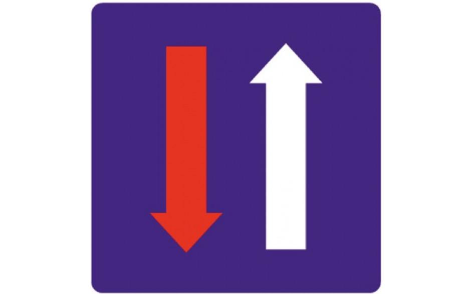 Baustellenverkehrszeichen § 53/7a Wartepflicht für Gegenverkehr 630X630X1,5 mm