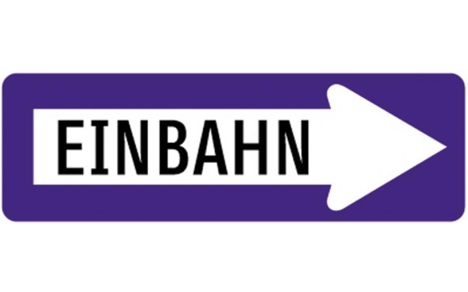 Baustellenverkehrszeichen § 53/10 Einbahnstraße links 960 X 310 X 1,5 mm