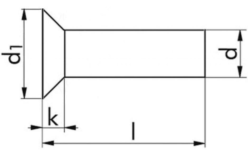 Senkniete DIN 661 - Aluminium - 3 X 6