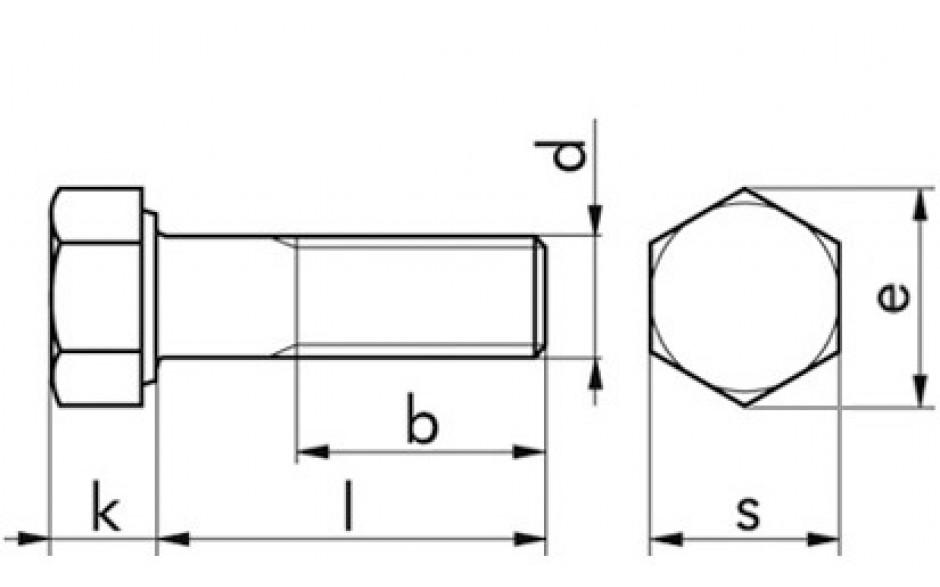 Sechskantschrauben UNC 1 Zoll -8 Gänge/Zoll x6 Zoll FKL 8.8 Stahl blank