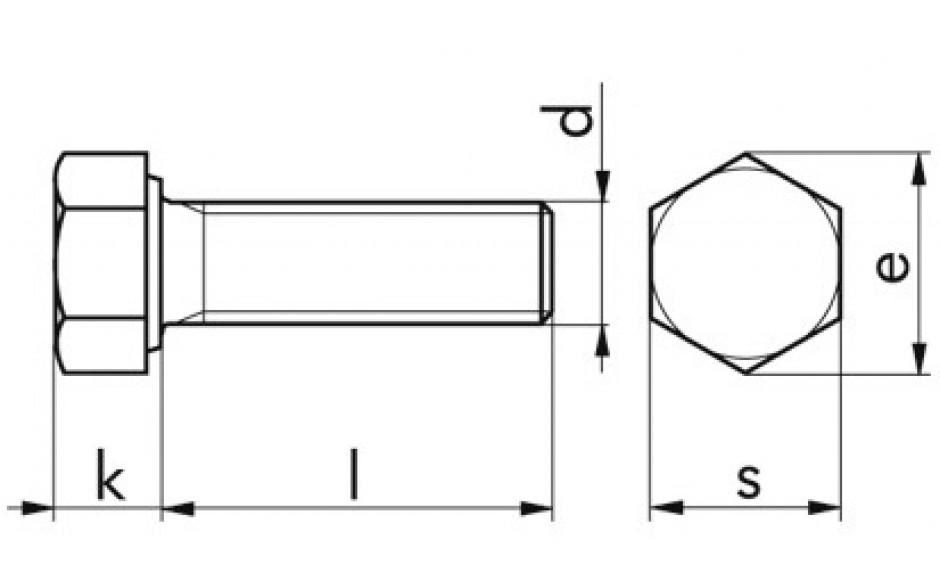 Sechskantschrauben M 14 x 60 DIN 933 FKL 10.9 Zinklamelle 720 H, C= 0,09-0,14