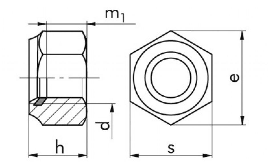 Sicherheitssechskantmutter DIN 982 M5 Edelstahl rostfrei A2