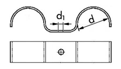 Betonschellen doppelt für Rohr-Ø 24 mm
