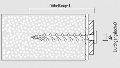 Isolierschraubdübel kupfer 80 mm TX 25