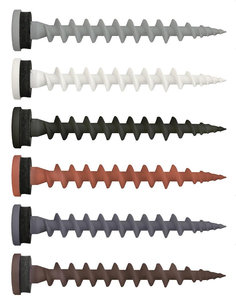 Isolierschraubdübel schwarz 80 mm TX 25