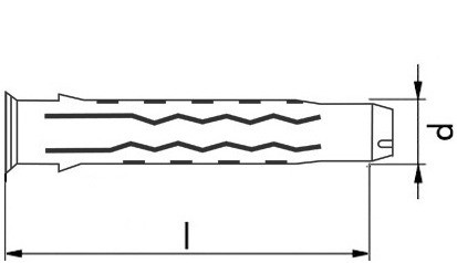 RECA- Nylondübel RND Quattro 10x50 mm