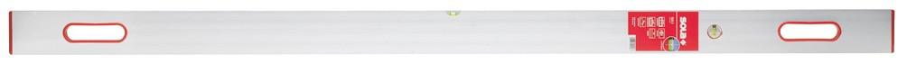 SOLA Waaglatte SLXG 202, 10x200 cm, 2 Griffe,1 Wagrechte / 1 Senkrechte-Libelle