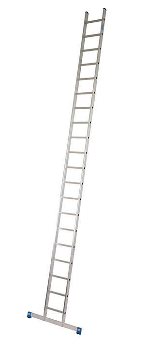 Stabilo Alu-Anlegeleiter, 22 Sprossen, Länge 6,35 m, Arbeitshöhe 7,10 m,11,7 kg