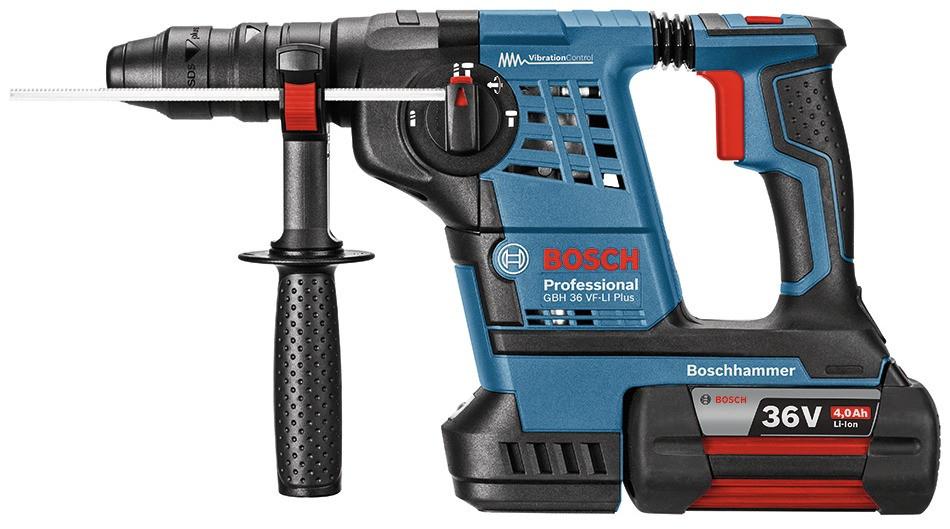Bosch Akku-Bohrhammer GBH 36 VF-LI Plus, mit 2 x 4,0 Ah Li-Ion Akku, L-BOXX