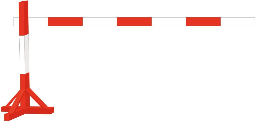 Holz- Absperrständer rot/weiß lackiert 80 x 80 x1500 mm mit Lattenhalter